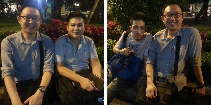 Thinh and Loang at September 23rd Park, Ho Chi Minh City, Viet Nam